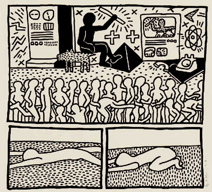 Keith Haring  Blueprint Drawing #15 1990