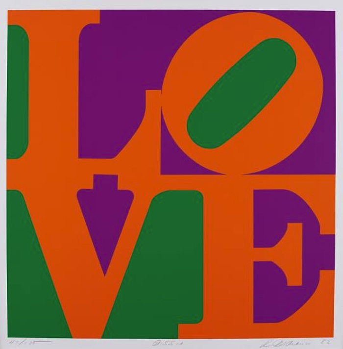Robert Indiana          Zinnia, from Garden of Love          1982