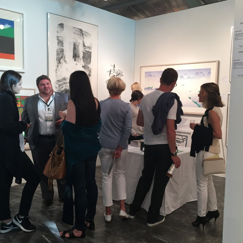 Opening night at Art Aspen 2015