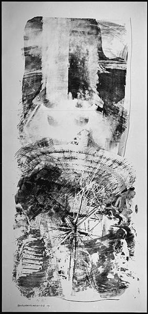 Robert Rauschenberg,      Waves, from Stoned Moon,      1969